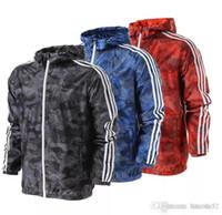 Wholesale Ad Long - 2017 spring autumn men sports ad jacket hooded jacket Thin Windbreaker Zipper streetwear waterproof Coats sweatshirt tracksuit men coat