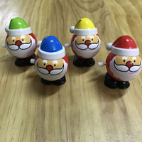 Wholesale Wind Up Christmas Toys - Wind up Santa Clockwork toys chain jump walk toy with open close mouth fun toy Christmas Decoration Children's Vingate Gift DHL free