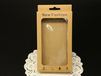 Wholesale Crafts Wholesale For Phone Cases - 156*90*20mm Craft Kraft Paper Packaging Package Box for Samsung S5 S4 S3 Note 4 3 2 iPhone 6 4.7'' 5 5S 4 Mobile Phone Case Cover DHL FREE