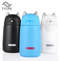 Wholesale Thermal Cup Kids - Ttlife Thermos Cup Cartoon Cat Thermo Mug Kids Water Bottle Stainless Steel Drinkware Child Vacuum Flask Leak -Proof Cup