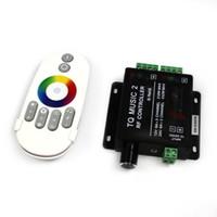 интеллектуальные светодиодные полосы rgb оптовых-2015 Новый RF 20M эффективный интеллектуальный RGB музыкальный контроллер Sonic Sensitivity Remote Led контроллер для 5050 led strip