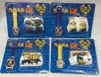 Wholesale Despicable Watches Wallet - Wholesale-New 12sets Despicable Me Watches With Wallet ,Best Gift For Girs Boys Free Shipping GG002
