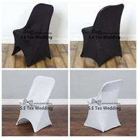 50pcs Cheap Price Folding Chair Cover \ Lycra Spandex Chair Cover For Banquet Wedding Decoration Frete Grátis