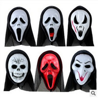Scary Ghost Face Schrei Maske Halloween Masken Cosplay Kostüme Full Maskes Kopf PVC Creepy Scary Abend Party Special Maske