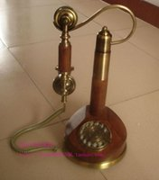 Wholesale Old Rotary Dial Telephones - Complex Classical European classic old phone ringtone antique rotary dial telephones metal crafts free shipping