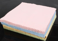 Wholesale microfiber camera lens cleaning cloth - 2016 new 100Pcs lot Microfiber Phone Screen Camera Lens Glasses Square Cleaner Cleaning Cloth 13cm*13cm free shipping