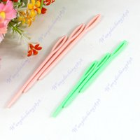 Wholesale Wholesale Sewing Notions - Wholesale-4set (6pcs set) 2 Sizes Plastic Hand Sewing Yarn Darning Tapestry Needles Notions Craft