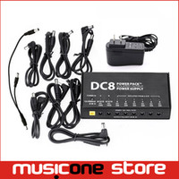 Wholesale Stabilized Voltage Supply - VITOOS DC8 Portable Guitar Effects Power Supply 8 Isolated Outputs Switching Stabilized Voltage with Anallobar AC100-2 MU0562