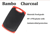 Wholesale Groove Boards - Wholesale-Free Ship wholesale 10pcs lot bamboo charcoal chopping blocks antimicrobial protection cutting board chopping board with groove