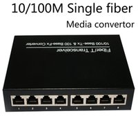 Wholesale Optic Fiber Cheap - cheap price single mode Fiber media converter 8* RJ45 transfer sfp optic shenzhen manufacturer