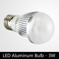 Wholesale E27 22w Globe - Economical 3W aluminum heat sink E27 Dimmable LED globe bulbs with brand LED, AC220V   110V, 4pcs lot free shipping