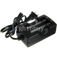 Wholesale Battery Charger For Sanyo - wholesale 18650 Li-ion battery charger 18650 Wired Dual Battery charger for Trustfire Ultrafire Sanyo  18650 Battery charger( EU or US plug)