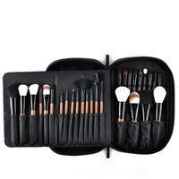 gözler gölge durumlarda toptan satış-28 adet Makyaj Fırçalar Set Pro Pudra Allık Vakfı Göz Farı Makyaj Fırçalar Kozmetik Fırça Seti Pu Deri Kılıf Ile