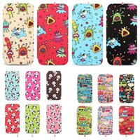 Papillon Chouette Fleur Ours Panda Case Phone Housse en cuir Wallet Flip pour Iphone 6 6S 4.7 6S plus animal Cartoon TPU Colorful de couverture de peau souple