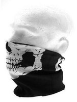 Wholesale Motorcycle Tube Face Masks - Motorcycle bicycle outdoor sports Neck Tube Face Mask Skull Mask Full Face Head Hood Protector top sale free shipping