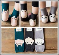 3d karikatür bebek çorapları toptan satış-Prettybaby çocuklar 3D çorap Yetişkin kadın kız karikatür panda domuz kedi bacak ısıtıcıları pamuk hayvan düşük kesim ped çorap bebek sox Pt0078 #