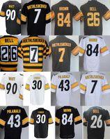 39f46c818 2018 New Mens Pittsburgh Steeler 30 James Conner Jersey T. J. Watt 26  LeVeon Bell Jersey 7 Ben Roethlisberger 84 Antonio Brown Jerseys