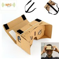 Wholesale 3D Virtual Reality VR Cardboard Headset FULL with NFC for Google Android iPhone
