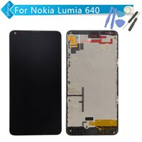 Wholesale Open Frame Lcd Touch Screen - Wholesale-For Nokia Lumia 640 LCD Display Touch Digitizer Screen Assembly Frame with Microsoft logo + Opening Tools