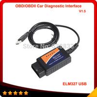 Wholesale Top Selling Obdii Scanners - Wholesale-2014 Top selling ELM327 Interface USB OBD2 Auto Scanner V1.5 OBDII OBD 2 II elm327 usb Super scanner