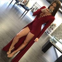 Wholesale Bodywear Women - New New Fashion Sexy Jumpsuit Hollow Out bodysuits Women Elegant Clubwear Bodycon Bodysuit Bodywear Long Sleeves Jumpsuits