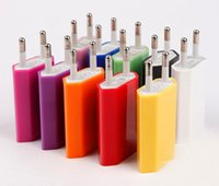 Wholesale Galaxy 4s Wall Charger - 5V 1000mah Colorful EU US Plug USB Wall Charger AC Power Adapter Home Charger for iphone 6 6G 4 4S 5 5G 5S 5C Samsung Galaxy S3 S4 S5