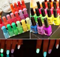 Wholesale Cheap Nail Paints - nail polish glow in the dark nail polish and paint Neon Fluorescent Luminous oil matte nail polish cheap nail polish