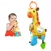 Wholesale Rattles Chicco High Quality Giraffe Bell baby Bed Hang Bell giraffe Pull Violin Toy musical Placate appease Toy