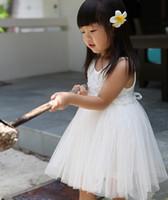 Wholesale Sale Childrens Dresses - One Piece!!Hot Sale Flower Girls Dress White Rose Dress Design Childrens Summer Dresses