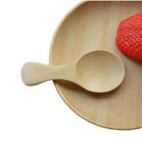 Wholesale Wholesale Baby Milk Powder - Wood Tea Spoons Creative Tableware Schima Superba Milk Powder Spoons Wooden Baby Dinnerware Burlywood 8*3.5cm MOQ:50pcs