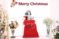 Wholesale Personalized Christmas Ornament - 6 style Christmas Gift Bag Wholesale Monogrammable Santa Claus Drawstring Bag Personalized Delivery Gifts Santa Sack bag 1050