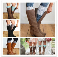 Newly Stretch Lace Boot Cuffs Mulher Outono Inverno Short Leg Warmers Casamento Noiva Chirstmas Crianças Foot Cover Meias K653