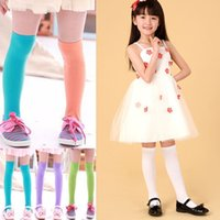 Wholesale knee socks for baby girls - kids candy color socks girls knee high socks velvet socks kids long socks for girls baby legwarmers long free shipping in stock