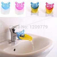 Wholesale Bathroom Hand Sink - 1PC Bathroom Sink Faucet Extender Crab Shape For Children Kid Washing Hands T1260 W0.5