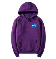 Wholesale Style Ho - new style NASA Air Force pilot Galactic spaceflight Letter print skateboard hoodies kanye west fashion Harajuku streetwear with couples ho