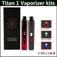 Wholesale Dry Herb Variable - Titan 1 Dry Herb Vaporizer kits Variable Temperature 2200mAh Titan1 Starter Kit vs Titan 2 Vaporizer kit