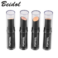 Al por mayor-Popfeel Foundation Stick Corrector Maquillaje Corrector Stick Perfect Corrector Stick Face Primer Base Natural 4 colores