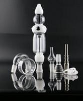 Wholesale Case Kits - Nectar Collector Kit bong new design two funcation 14mm oil rigs glass water pipe with case