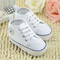 Wholesale Trend Shoes Wholesale - Wholesale- 2017 new fashion trend college style new baby shoes breathable canvas boys shoes 5 colors comfortable girls shoes