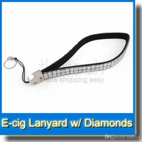 Wholesale Necklace Ego Diamond - Diamond bling crystal ego lanyard necklace ego case ring electronic cigarette accessories wholesale 100% good quality eGo ring Factory Price