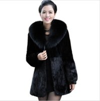 Wholesale Haining Fur - casacos femininos 2017 Haining special clearance mink fur coat women long section of imitation women coat.