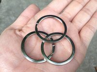 Wholesale 300 stainless steel Iron Round Metal Keyring Rhodium Plated Split Key Ring Findings D mm