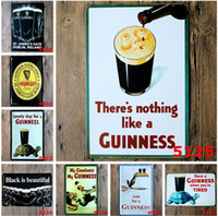 Wholesale Classic Vintage Paintings - 20*30cm Metal Tin Sign beer my guinness Retro vintage Classic Tin Bar pub home Wall Decor Retro Tin Poster