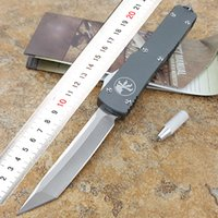 Wholesale Switch Knives - Microtech's microcutting tool ultratech 121 D2 steel aviation aluminum Switch blade outdoor portable automatic spring knife high quality