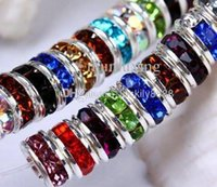 Atacado - Frete grátis 500pcs Mixed Color Crystal Rondelle Spacer Beads 8mm HOT