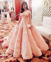 Wholesale Zuhair Murad Vestidos - Zuhair Murad Prom Dresses 2016 Short Sleeve Embroidery Ball Gown Evening Dresses Long Vestidos De Festa Celebrity Pageant Gowns