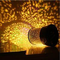dekorasyon lambaları yıldızlar toptan satış-Karanlıkta Parlayan Aydınlatmalı Yıldızlı Gece Lambaları LED Star Projektör Işıkları Ev Dekorasyonu Masaüstü Projeksiyon Işık Yeni 3 7ms B R