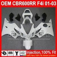 Wholesale Dragon Mold - ALL White OEM For HONDA Injection CBR600F4i 01-03 NEW white dragon L721 CBR600 F4i FS CBR 600 F4i 600F4i 01 02 03 2001 2002 2003 Fairing