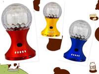 Wholesale Usb World Cup - Wholesale-6W World Cup Football Rotating Music Player LED Stage Light Crystal Magic Ball RGB DJ Disco Light MP3 USB Speaker