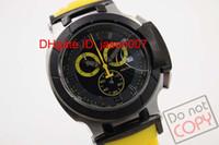 Wholesale Men Heart Watch - hot sale luxury Brand Limited Quartz Chronograph watch men Yellow T-race Watch Portatil watches rubber band COUTURIER 1853